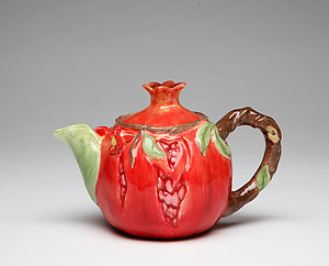 Porcelain Decorative Pomegranate Teapot