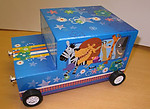 Zoo Animals Car Musical Keepsake Box #22182