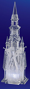Four Angel Acrylic Illuminated Cathedral