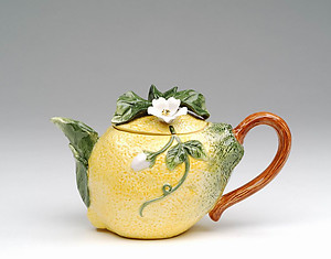 Porcelain Decorative Lemon Teapot