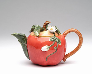 Porcelain Decorative Apple Teapot