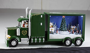Christmas Big Rig Music Box