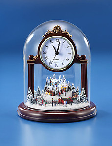 Christmas Village Musical Clock