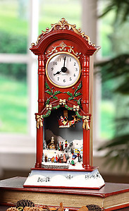 Christmas Choir & Sledders Clock