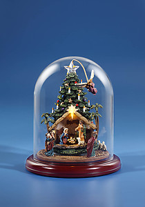 Angel Rotating Nativity Tree w/ Dome