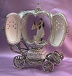 Exquisite Musical Wedding Carriage Silver