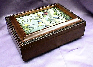 The Gathering of Birds Rosewood Music Box #mb484