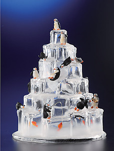 Penguin Ice Tower Figurine
