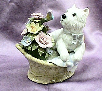 Puppy Porcelain Music Box
