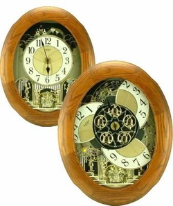 Joyful Nostalgia Oak Music and Motion Rhythm Clock
