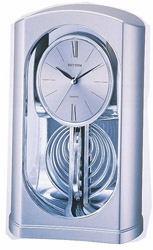 Silver Mirrored Motion Rhythm Clock