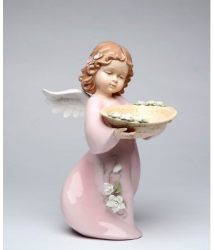 Angel with Basket Porcelain Figurine