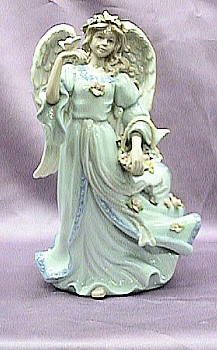 Exquisite Porcelain Angel Music Box #1461