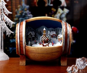 Barrel Village Music Box