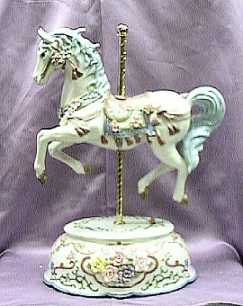 Deluxe Grand Porcelain Musical Carousel #80038