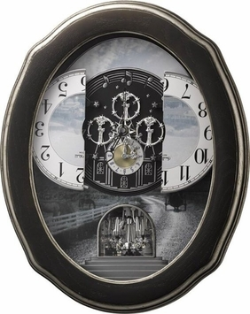 JOYFUL HOMESTEAD II MUSICAL RHYTHM CLOCK #4MH421WU02