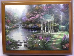 Thomas Kinkade Garden of Prayer Music Box #12006