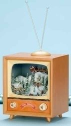 Animated Christmas Skaters and T.V Music Box #C37457