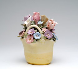 Flower Basket Musical Figurine