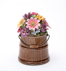 Barrel of Flowers Music Box