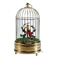 Antique Gilt Singing Bird Cage - 2 Birds