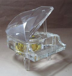 Crystal Musical Baby Grand Piano #C10506