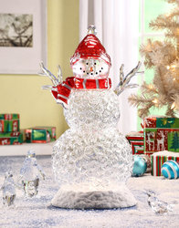 Acrylic Snowman with Lights  #IC94055T