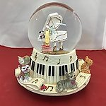 Cats on Piano Musical Waterglobe #14275