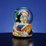 Christmas Cats Musical Snow Globe  #50544