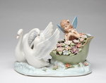 Swans with Fairy Porcelain Music Box #80077