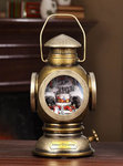 Christmas Village Musical Brass Lantern #IC94074