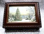 Christmas Tree Musical Picture Frame Rosewood Box #Tree2