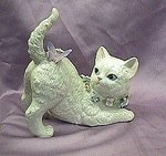 Cat with Butterfly Porcelain Music Box