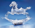 Rocking Horse Acrylic Musical Figurine  #IC94092T