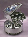 Baby Grand Piano With Blue Crystals#C325M