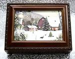 Christmas Time Musical Picture Frame Rosewood Box #snow